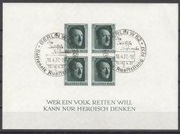 Deutsches Reich Block 8 O Kleiner Eckbug