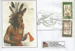 French Indian War (1754–1763) Belle Lettre De Champlain (N-Y),  Adressée Californie