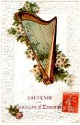 ESSONNES (91) SOUVENIR Du CONCOURS D'ESSONNES. CARTE GAUFREE.