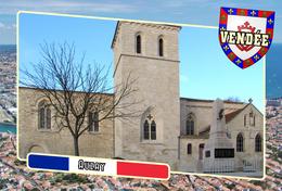 Postcard, Communes Of France, Auzay, Vendée - Cartes Géographiques