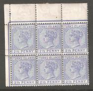 Turks Islands 1885-1895 Queen Victoria Blocks,Sc 48a//53,VF MNH**OG,Offers Welcomed !! - Great Britain (former Colonies & Protectorates)