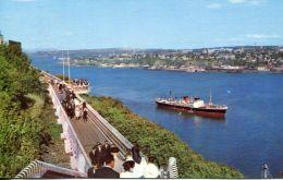 N°38302 -cpsm Quebec -la Promenade Des Gouverneurs- Navire Remontant Le St Laurent- - Commerce