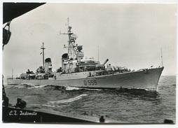 FOTO CARTOLINA CACCIATORPEDINIERE INDOMITO NAVE REGIA MARINA MILITARE VIAGGIATA ANNO 1966 - Guerra