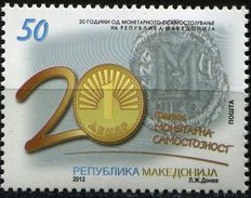 MACEDONIA 2012 The 20th Anniversary Of Monetary Independence Of The Republic Of Macedonia MNH