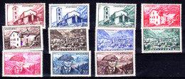 1944-1946 11 Timbres De La Série Paysages N**