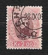 NORVEGIA 1878 - King Oscar II - 2 Kr - Mi:NO 34 - Norvegia