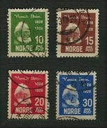 NORVEGIA 1928 - Henrik Ibsen - Mi:NO 137-140