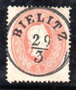 Y2068 - AUSTRIA 1860 , 5 Kr N. 19  Usato - 1850-1918 Empire