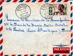 Congo (Brazaville), Nice Cover From MAKOUA, 01.06.1961, Yvert # 135, VFU - Congo - Brazzaville