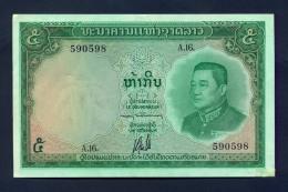 Banconota Laos 5 Kip 1962 FDS - Laos