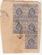 10c Used On Piece, KG V Series, REGISTERED Postmrk Hong Kong - Covers & Documents