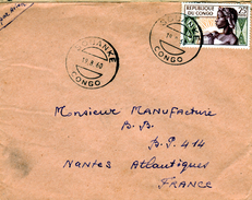 Congo (Brazaville), Nice Cover From SOUANKE, 19.08.1960, Yvert # 135, VFU - Congo - Brazzaville