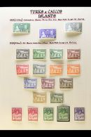 1937-1950 COMPLETE VERY FINE MINT COLLECTION On Leaves, All Different, Inc 1938-45 Set With All Listed Shades Inc...