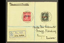 1933 6d Carmine & 1½d Slate, SG 119, 135, 7½d Franking On Registered Cover To Switzerland, Tied...