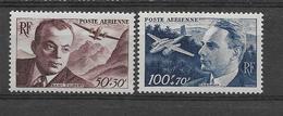 FRANCE 1947  POSTE AERIENNE YT 21/22  Neufs** Cote 2015 = 9  € à  20 %