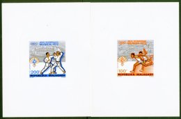 1972 IMPERF PROOFS For The 100f & 200f Air Olympics Issue (as Yvert 119/20), Printed On Ungummed Embossed...