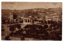 Tarjeta Postal  Circulada  Valparaiso. Plaza O'higgins. - Chili