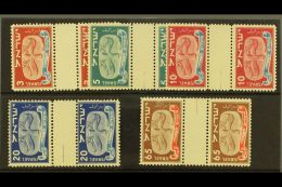 1948 New Year Set Of Vertical Gutter Pairs, Bale 10/14b, Mint Never Hinged. (5) For More Images, Please Visit...