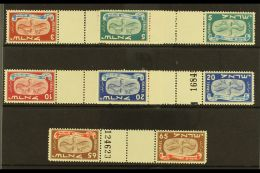 1848 New Year Set Of Horizontal Gutter Pairs, Bale 10/14a, Mint Never Hinged. (5) For More Images, Please Visit...