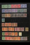 1922-23 OVERPRINTS MINT COLLECTION With Dollard Set, With Some Additional To 9d In Horizontal Pairs, Plus Red Opts...