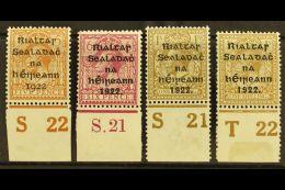 "1922-23 CONTROLS Dollard 5d ""S22"", Thom 6d ""S21"", 1s ""S21"" (perf), Thom Wide 1s ""T22"" (perf, Light Crease), Fresh..."