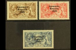 1922 2s 6d, 5s And 10s 3 Line Ovpt By Thom, SG 64/6, Very Fine And Fresh, Well Centered Mint Set. (3 Stamps) For...