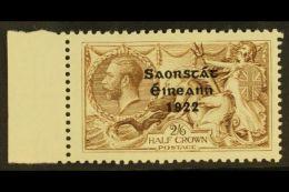 "1922 2s 6d Pale Brown, 3 Line Thom Ovpt, Variety ""Corner Re-entry"", Hib. T59ca (SG 64 Var), Very Fine Mint..."