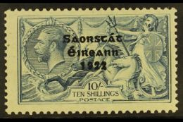 1922 - 3 10s Dull Grey - Blue,  Free State Thom Ovpt, SG 66, Very Fine And Fresh Mint. For More Images, Please...