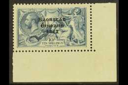 1922 - 23 10s Dull Grey Blue Seahorse, SG 66, Lower Right Corner Copy (Row 10/4), Showing WEAK ACCENT, Hib. T61g,...