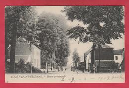 Court-Saint-Etienne - Route Provinciale  - 1907 ( Voir Verso ) - Court-Saint-Etienne