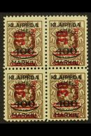 LITHUANIAN OCCUPATION 1923 (Nov) 30c On 400m On 1L Brown With Type I Surcharge (Michel 232 I) Very Fine Never...