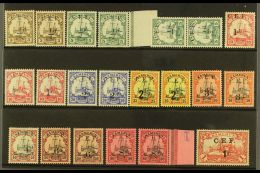 """CAMEROONS EXPEDITIONARY FORCE 1925 """"C.E.F."""" Overprints Selection With All Values To 1s On 1m (crease), Fine Mint,..."""