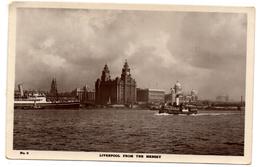 Tarjeta Postal  Liverpool From The Mersey. - Engeland