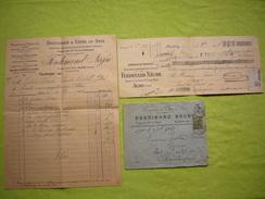 Facture Illustrée & Reçu + Enveloppe Pub Droguerie Et Cafés En Gros Ferdinand Nègre  Alais 1917 - Levensmiddelen