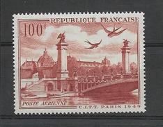 FRANCE 1949  POSTE AERIENNE YT 28 Neuf** Cote 2015 = 9  € à  25 %
