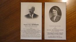 Epouses Huyberechts - Dandois Bossut-Gottechain 1892-1953 Mellet 1883 Court-Saint-Etienne 1952 - Décès