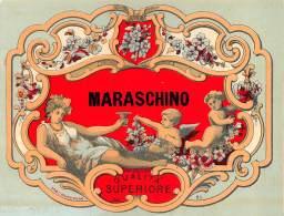 """06618 """"MARASCHINO - QUALITA' SUPERIORE"""" ETICHETTA ORIGINALE - Etichette"""