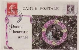 134  SEMEUSE  AVEC  SOL  SUR  CARTE  POSTALE  DE  1908   . - Cartas Máxima