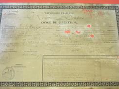 Diplôme/Congé De Libération/a Terminé Le Temps De Service Exigé Par La Loi//4éme Régiment De Dragon/KREIZER/1873  DIP158 - Diplomi E Pagelle