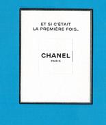 Cartes Parfumées Carte CHANEL N°5  EAU PREMIÈRE  De CHANEL - Cartes Parfumées
