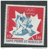 St Pierre Et Miquelon P A N° 61 X Année Préolympique Montréal Trace De Charnière Sinon TB