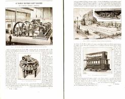 """LE TRAMWAY ELECTRIQUE  """" CLARET VUILLEMIER """"  De La Place De La REPUBLIQUE à ROMAINVILLE 1896 - Chemin De Fer"""