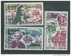 St Pierre Et Miquelon P A N° 54 / 56 XX  Personnages Célèbres, Les 3 Valeurs Sans Charnière, TB