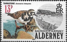 "ALDERNEY 1984 Birds -  13p. - Ruddy Turnstone (""Turnstone"")  MNH - Alderney"