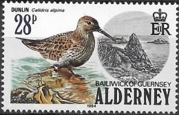 ALDERNEY 1984 Birds - 28p. - Dunlin  MNH - Alderney