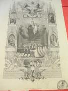 Diplôme De Premiére Communion/ Eglise  Saint Martin De Broué/Eure Et Loir/RENARD//1898  DIP159 - Diplomi E Pagelle