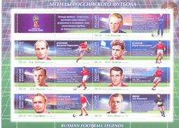 2015. Russia, FIFA World Cup 2018, Legends Of Russian Football, Sheetlet, Mint/**
