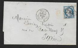 Seine Et Marne -  G.C. 2306 Et Cachet Type 18  MELUN - Marcophilie (Lettres)