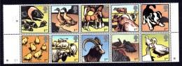 GRANDE-BRETAGNE - 2005 - Animaux De La Ferme - N° 2606 à 2615 Se Tenant - Neufs **