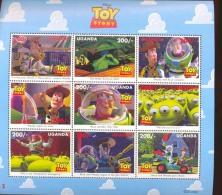 MINT NEVER HINGED MINI SHEET OF DISNEY  ; TOY STORE ;  #  M-735-3*   (  UGANDA   1481  1997 - Disney